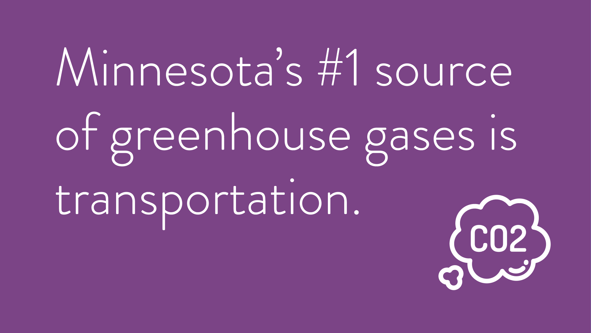 Minnesota's #1 source of greenhouse gases is transportation.
