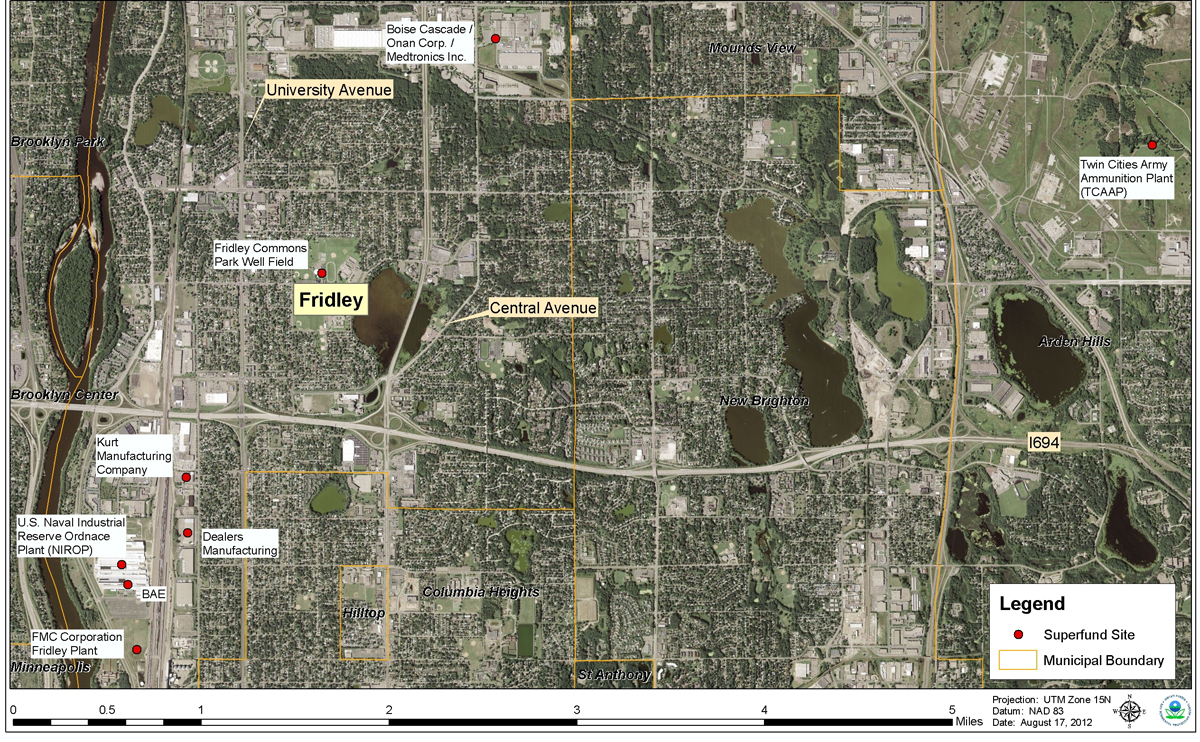Fridley Air Quality And Superfund Sites Minnesota Pollution - Us superfund site map