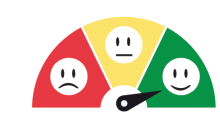 grading dial with red, yellow, and green