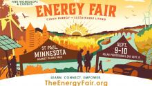 Postcard advertising St. Paul energy fair