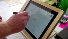 Paperless point of sale computer