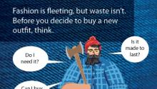 Paul Bunyan on textile waste