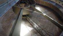 equipment at wastewater treatment facility