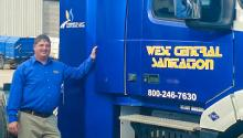 Natural-gas-powered waste transfer truck
