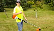 Electric landscaping equipment is good for clean air.