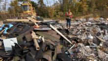 A landfill for construction and demolition materials