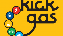Kick Gas is an exhibit dedicated to options to bike, walk and take public transit.