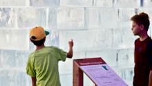 Losing ice: See and touch the 9-ton block of ice