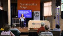 Presentation on the Sustainability Stage at the Eco Experience