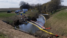 An oil spill response in Lyon County
