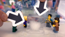 An 18,000 pound block of ice? Cool!