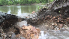 Intense storms of late spring can cause large-scale erosion