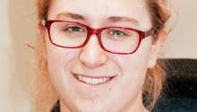 Minnesota GreenCorps member Laura Wessberg is serving with Hubbard County's Solid Waste Department