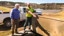 MPCA commissioner John Linc Stine toured a wastewater facility in Moose Lake