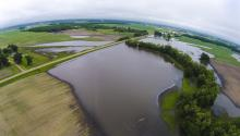 Flooded farm near Cologne Minnesota