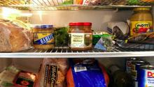Picture of food in a refrigerator