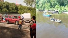 Kennedy's emergency response preparedness program includes an emergency boat launch on the Mississippi River (L), and spill drill exercises (R) like the diesel spill simulation earlier this summer.