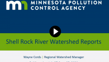 Watch this recorded presentation on the Shell Rock River Watershed reports
