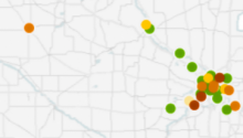 Map of facilities using TCE in Minnesota