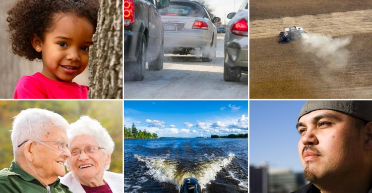 Life and breath report cover images of people