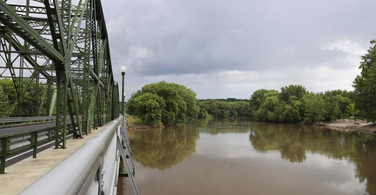 View of the Minnesota River at St. Peter