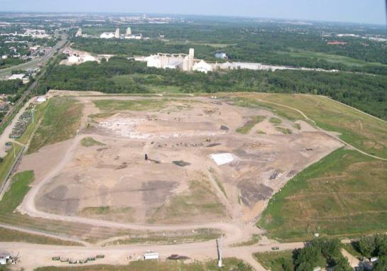 Aerial view of the Burnsville Sanitary Landfill