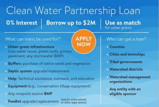 Clean Water Partnership Loans available