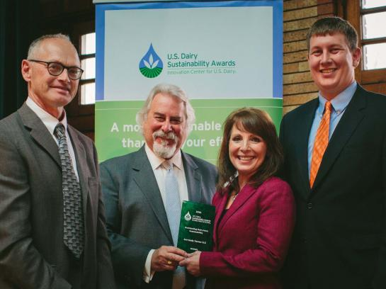 Jer-Lindy Farms and Redhead Creamery receiving Dairy Sustainability award
