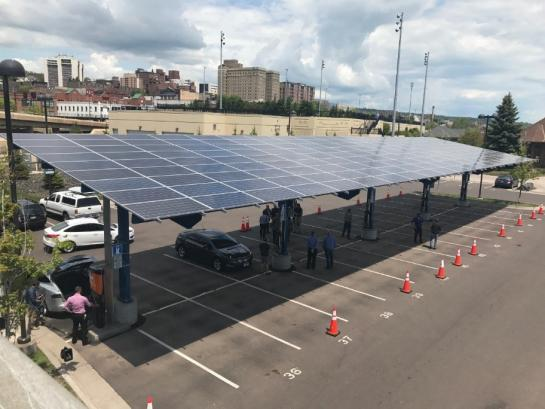 electric vehicle charging station in Duluth
