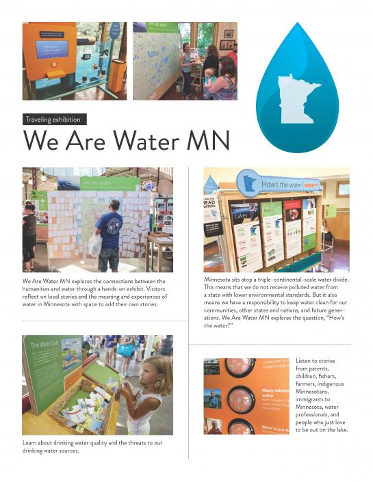 We are water traveling exhibition poster