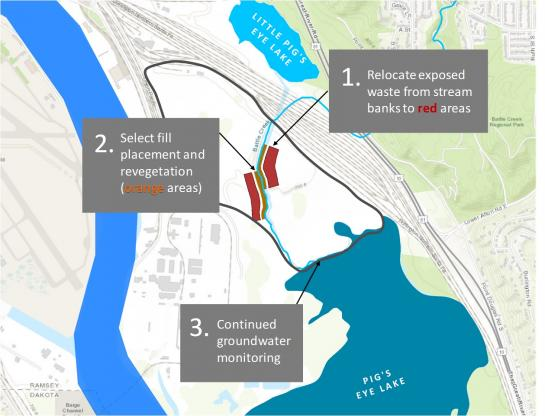 Map showing what's being planned for Pig's Eye Dump