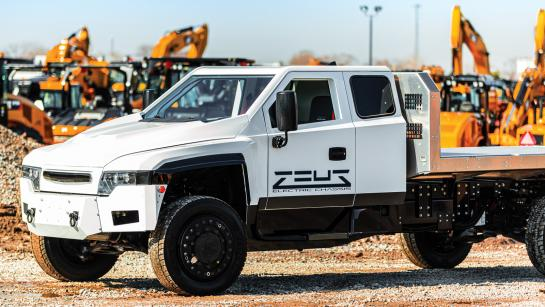 full-electric work truck chassis