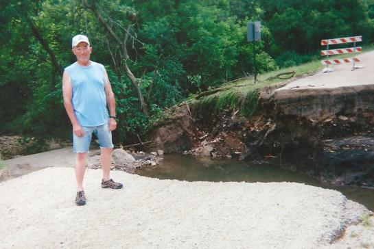 Steve Erickson is a volunteer water monitor on Gribben Creek near Lanesboro.