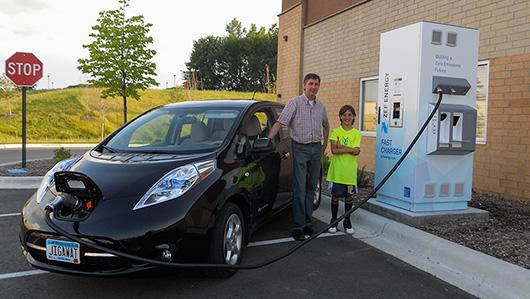 Electric Vehicles Charge At Goodwill S