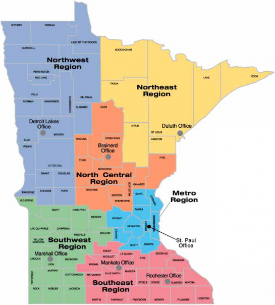 MPCA offices in Minnesota updated 12-2017