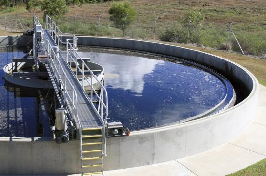 Waste water treatment tank