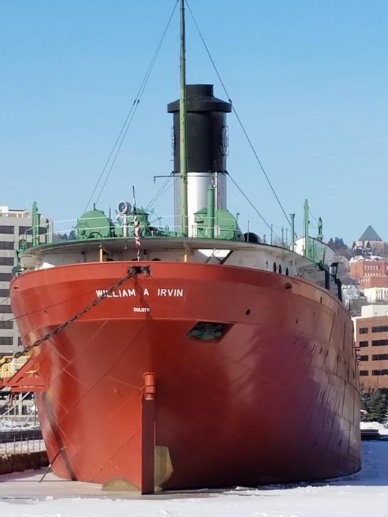 William-A-Irvin ship in Duluth harbor