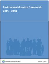 Screenshot of Environmental Justice framework 2015-2018