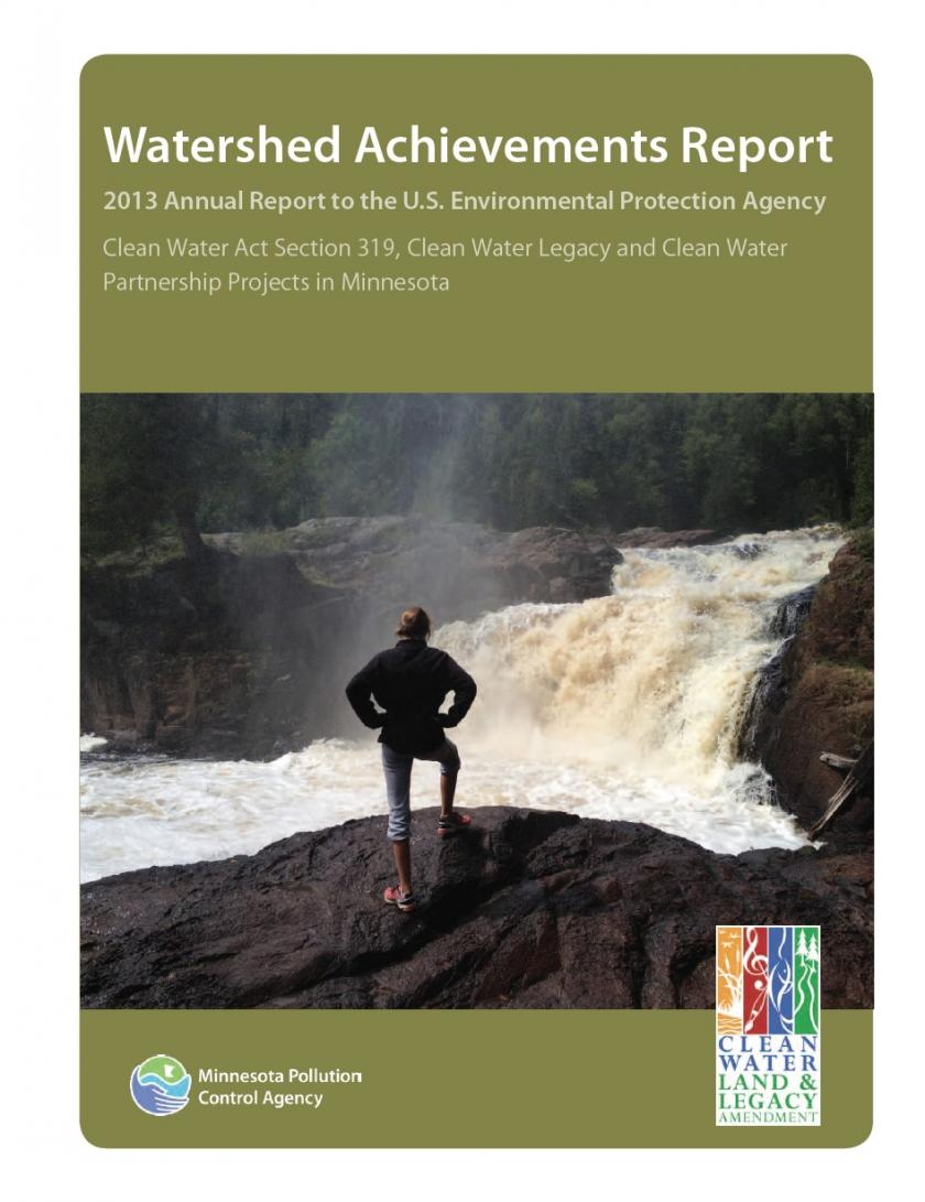 cover of 2013 Waterhsed Achievements Report