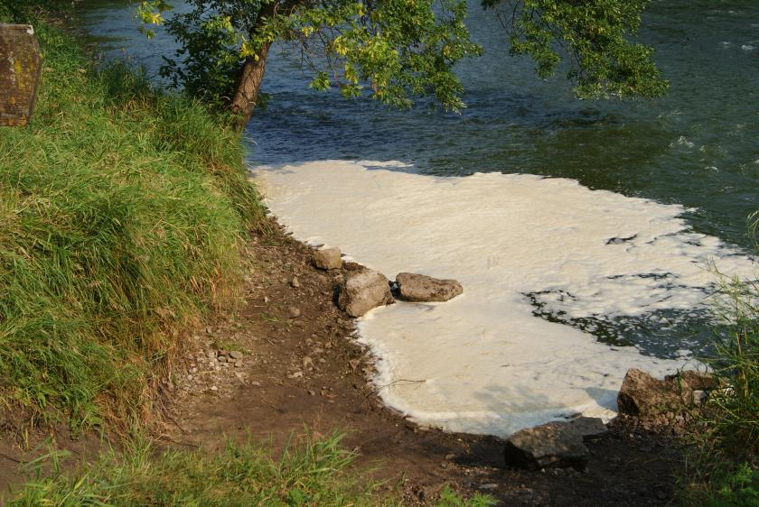 Foam on the Cannon River