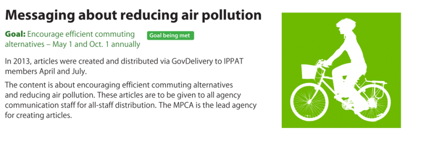 Messaging about reducing air pollution