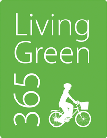 Living Green 365 newsletter image biker silhouette