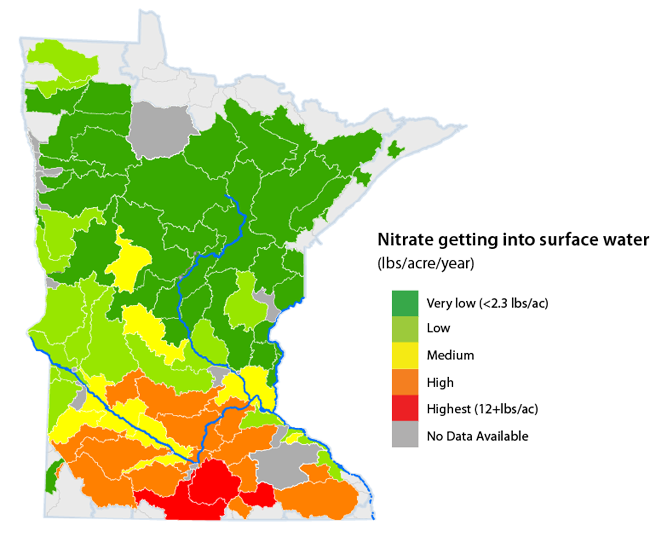 Minnesota Map Png.Report On Nitrogen In Surface Water Minnesota Pollution Control Agency