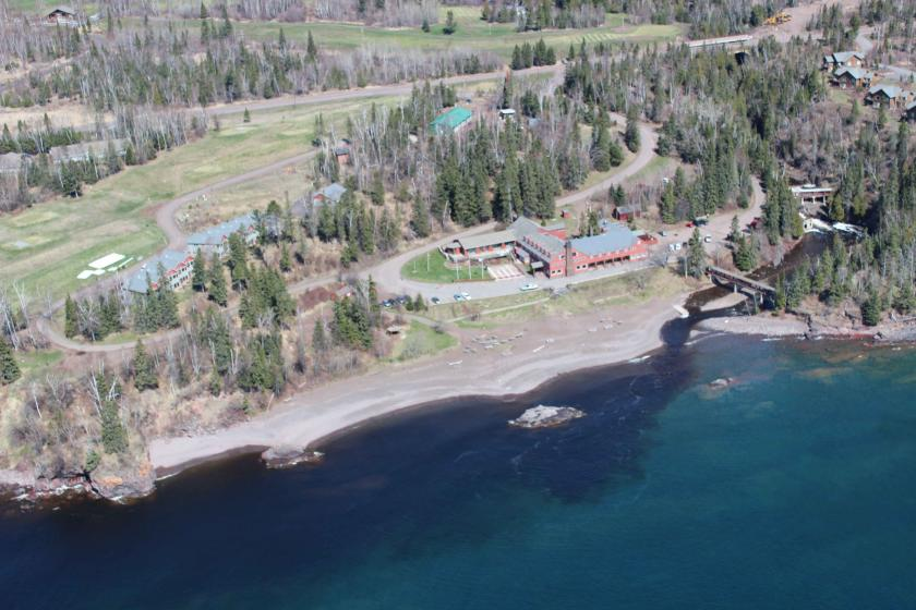 Poplar river empties into Lake Superior