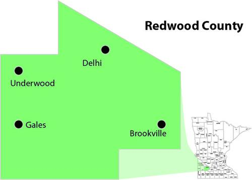 Redwood county outline