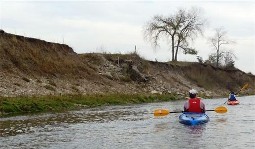 Kayakers on the Root River