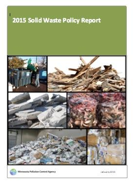 Cover of 2015 Solid Waste Policy Report