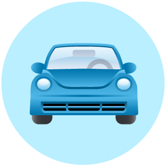 Icon representing small widespread sources of air pollution.