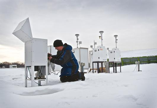 MPCA air monitoring equipment and staff