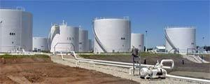 Aboveground storage tank facilities with a capacity of one million ...